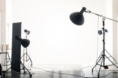 Professional lighting equipment used to create higher quality photos that aid in selling Phoenix area houses quicker