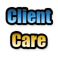 "Words ""client care"" illustrating our motto as Phoenix Realtors"
