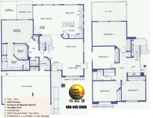 Image of Warner Ranch Tempe floor plans: model Ocotillo 375