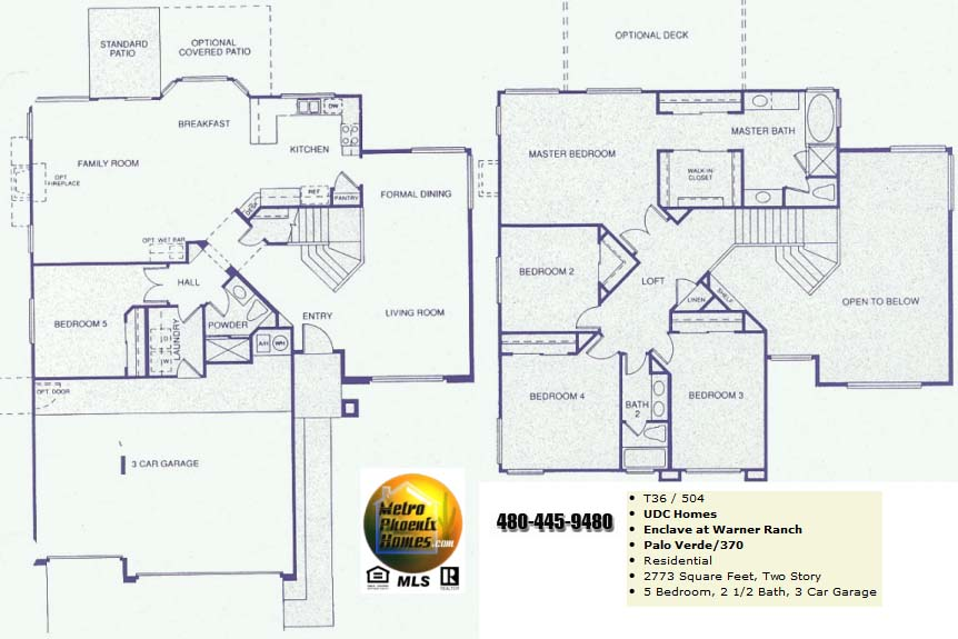 Warner ranch tempe floor plans warner ranch estates for Palo verde homes floor plans