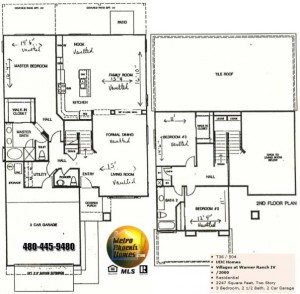 Image of Warner Ranch Tempe floor plans: model 2060