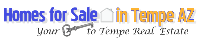 Metro Phoenix Homes logo welcoming visitors to an authority page for Homes for Sale in Tempe AZ