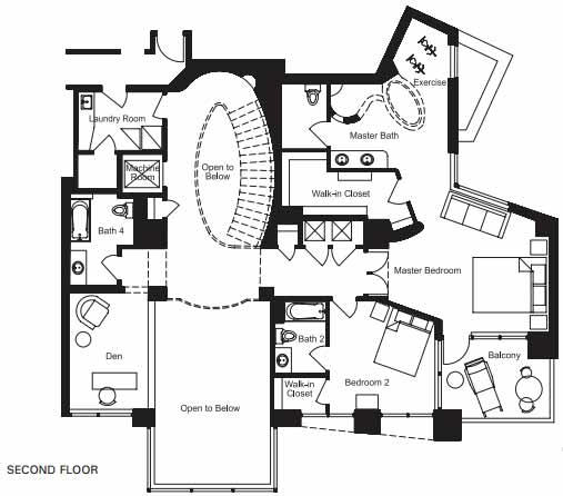 Floor plan image for Tempe Town Lake Condos at Bridgeview