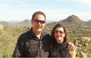 Clients reviewing Metro Phoenix Realtors Ron & Kristina Wilczek